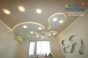 Двухуровневый потолок с диодной подсветкой