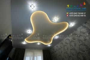 Двухуровневый светодиодный потолок