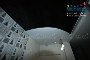 Двухуровневый потолок в форме дуги